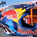 Casque de moto cross Red Bull